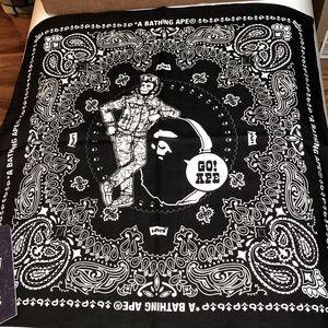 """20"""" Square Levi's x Bape Black Limited Bandana"""